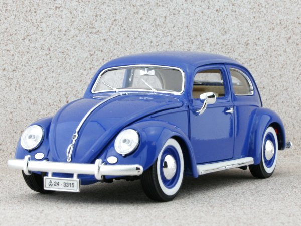 VW Volkswagen Käfer / Beetle - 1955 - blue - Bburago 1:18