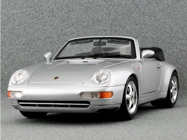 PORSCHE 911 Carrera Cabriolet - silver - Bburago 1:18