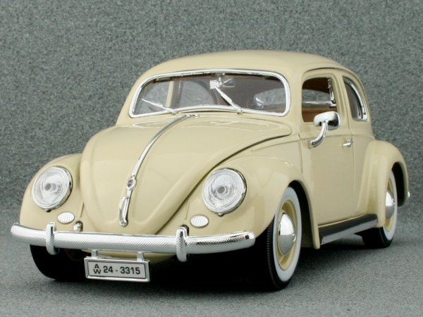 VW Volkswagen Käfer / Beetle - 1955 - cream - Bburago 1:18