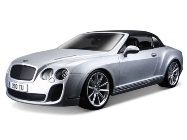 BENTLEY Continental Supersports Convertible - silver - Bburago 1:18