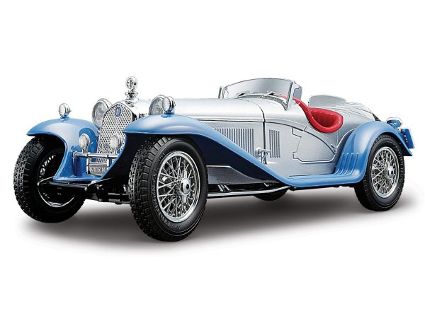 ALFA ROMEO 8C 2300 Spider Touring - 1932 - silver / blue - Bburago 1:18