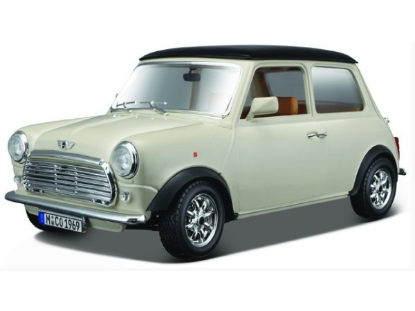 MINI Cooper - 1969 - cream / black - Bburago 1:18
