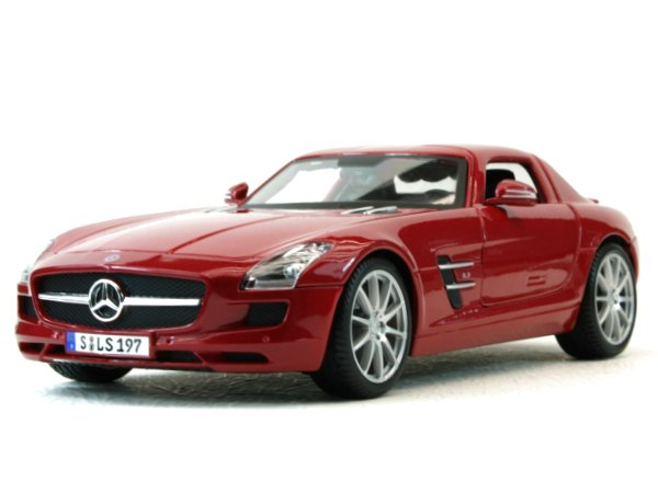 MB Mercedes Benz SLS AMG - redmetallic - Maisto 1:18