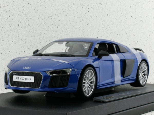 AUDI R8 V10 Plus - bluemetallic - Maisto 1:18