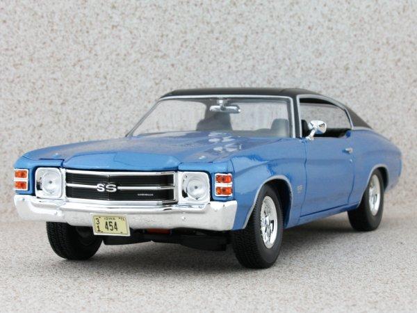 CHEVROLET Chevelle SS 454 Sport - 1971 - bluemetallic - Maisto 1:18