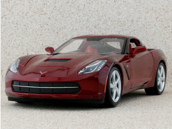 CHEVROLET Corvette Stingray - 2014 - redmetallic - Maisto 1:18