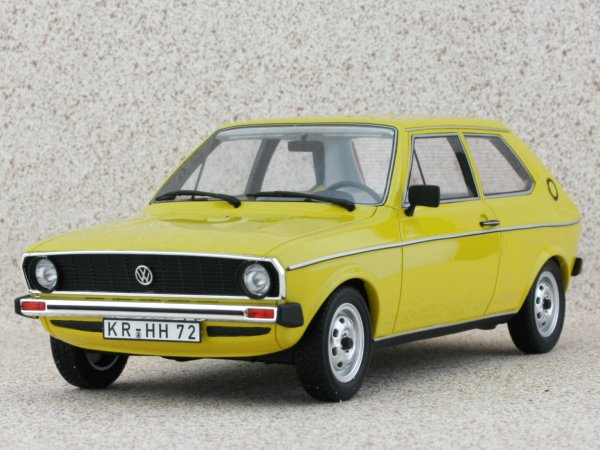 VW Volkswagen Polo I L - 1975 - yellow - BoS - Best of Show 1:18