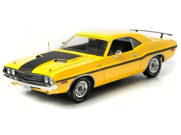 DODGE yellow Challenger R/T - NCIS / Gibbs - Greenlight 1:18