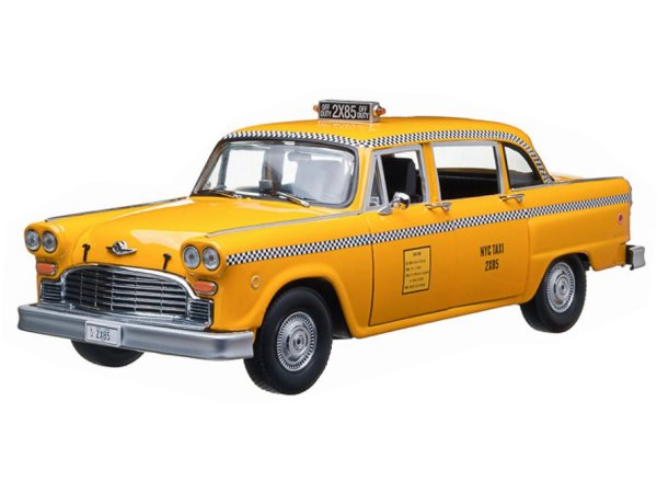 CHECKER Phoebe Buffay`s Taxi Cab - FRIENDS - 1977 - NYC Taxi - Greenlight 1:18