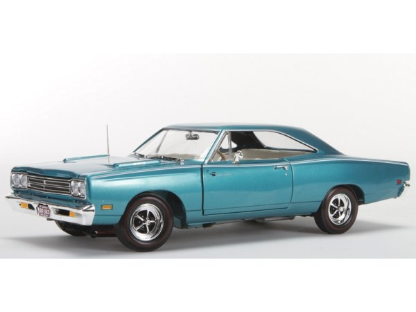 PLYMOUTH Road Runner - 1969 - turquoisemetallic - ERTL 1:18