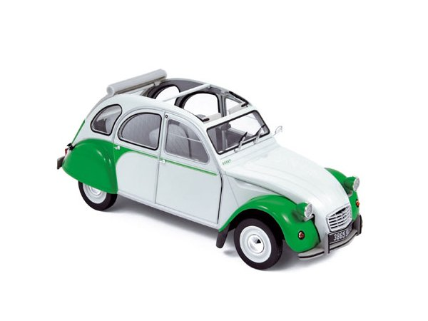 CITROEN 2 CV Dolly - 1985 - green / white - Norev 1:18