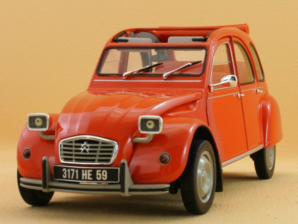 CITROEN 2 CV 6 - 1975 - orange - Norev 1:18