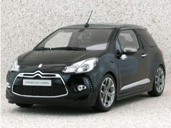 CITROEN DS3 Cabrio - 2013 - black - Norev 1:18