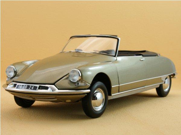 CITROEN DS 19 Cabriolet Chapron - 1961 - Sahara metallic - Norev 1:18