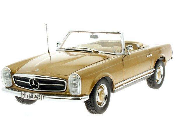 MB Mercedes Benz 230 SL - 1963 - goldmetallic - Norev 1:18