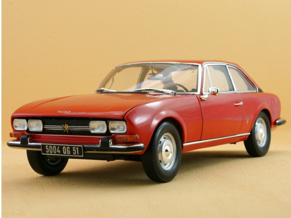 PEUGEOT 504 Coupe - 1971 - Andalou red - Norev 1:18