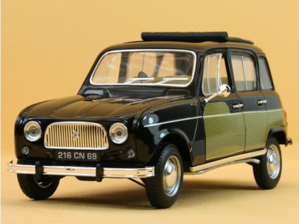 RENAULT 4L Parisienne - 1963 - black / yellow - Norev 1:18