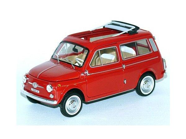 FIAT 500 Giardiniera - 1960 - Colaro red - Norev 1:18
