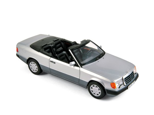 MB Mercedes Benz 300 CE 24 Cabrio - 1990 - silver - Norev 1:18