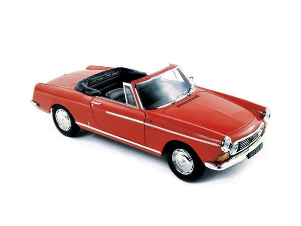 PEUGEOT 404 Cabriolet - 1967 - Capanelle Red - Norev 1:18