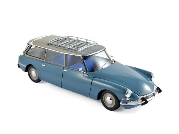 CITROEN ID 19 Break - 1967 - Monte Carlo blue - Norev 1:18