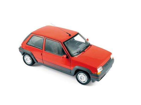 RENAULT 5 Supercinq GT Turbo - 1986 - red - Norev 1:18