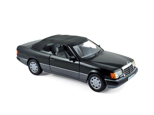 MB Mercedes Benz 300 CE 24 Cabrio - 1990 - black - Norev 1:18