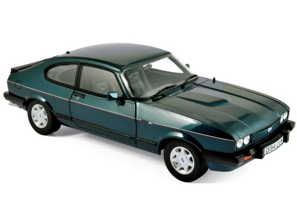 FORD Capri Mk III 2.8 - 1986 - greenmetallic - Norev 1:18