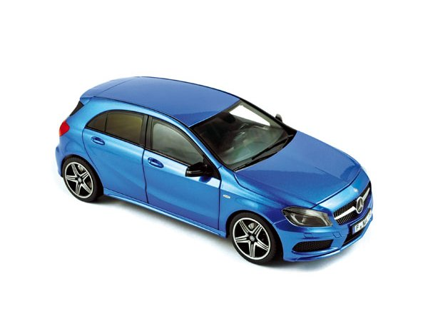 MB Mercedes Benz A 250 Sport - 2012 - bluemetallic - Norev 1:18