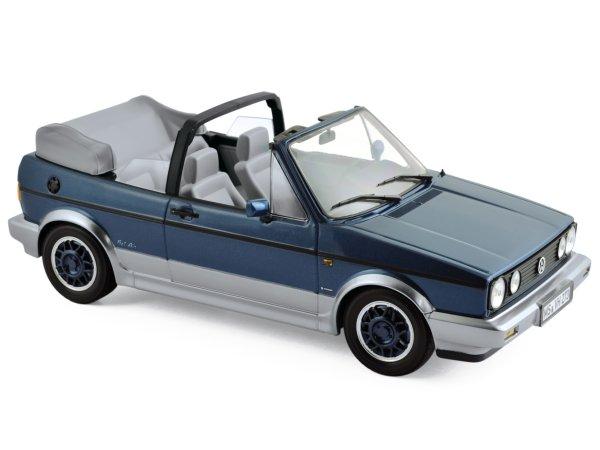 VW Volkswagen Golf Cabrio - Bel Air - 1992 - bluemetallic - Norev 1:18