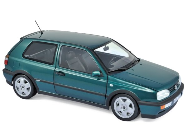 VW Volkswagen Golf VR6 - 1996 - greenmetallic - Norev 1:18