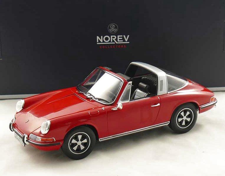 PORSCHE 911 T Targa - 1971 - red - Norev 1:18