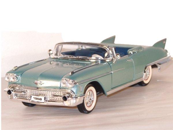 CADILLAC Eldorado Biarritz - 1958 - greenmetallic - Lucky Die Cast 1:18