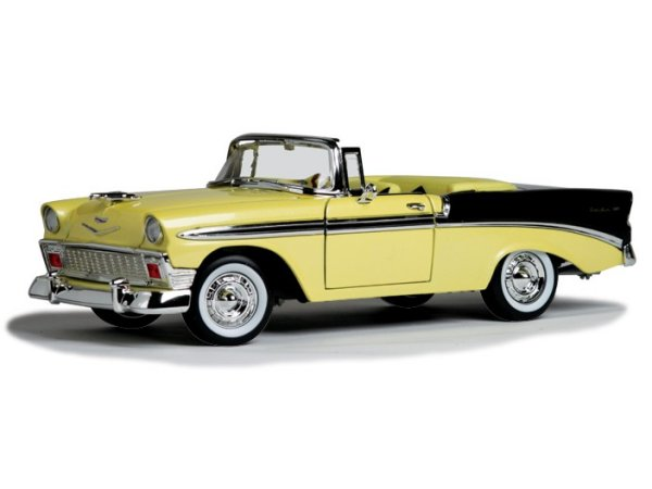CHEVROLET Bel Air - 1956 - yellow / black - Lucky Die Cast 1:18