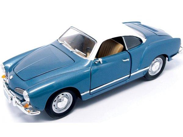 VW Volkswagen Karmann Ghia - 1966 - bluemetallic - Lucky Die Cast 1:18