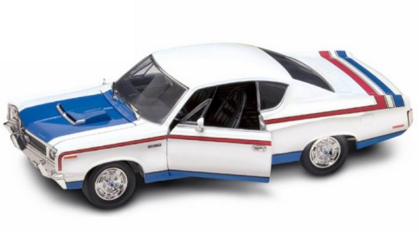AMC Rebel - 1970 - white - Lucky Die Cast 1:18