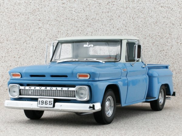 CHEVROLET C-10 Stepside Pick up - 1965 - blue - Sun Star 1:18