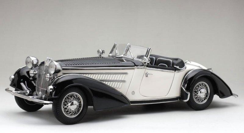 HORCH 855 Roadster - 1939 - black / white - Sun Star 1:18