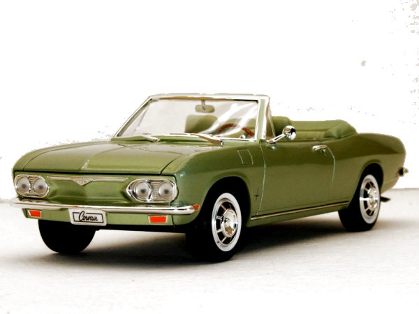 CHEVROLET Corvair Monza - 1969 - greenmetallic - YATMING 1:18