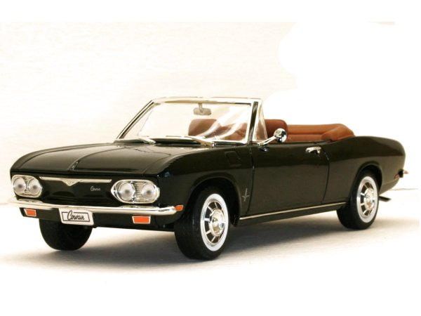 CHEVROLET Corvair Monza - 1969 - black - YATMING 1:18