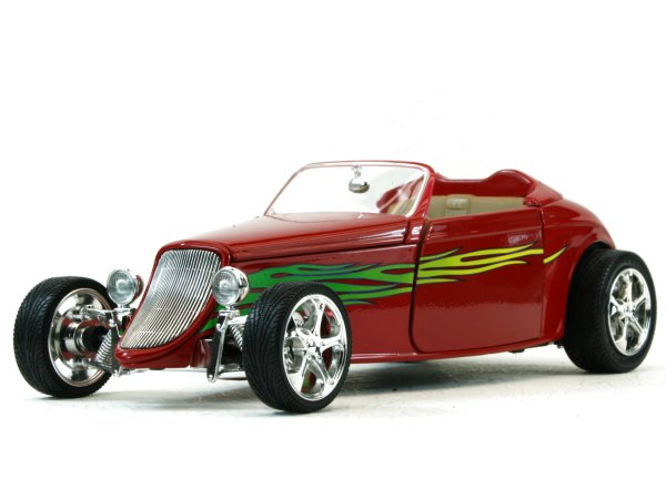 FORD Convertible - 1933 - red - YATMING 1:18