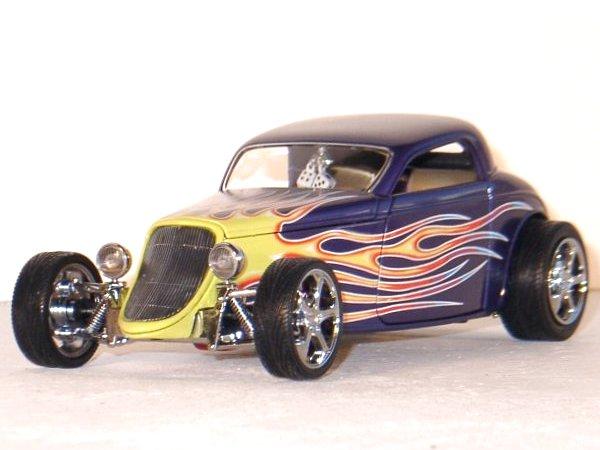 FORD Coupe - 1933 - purplemetallic - YATMING Shyne Rodz 1:18