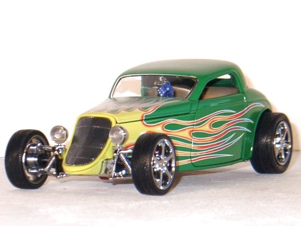 FORD Coupe - 1933 - green - YATMING Shyne Rodz 1:18