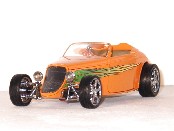 FORD Convertible - 1933 - orange - YATMING Shyne Rodz 1:18