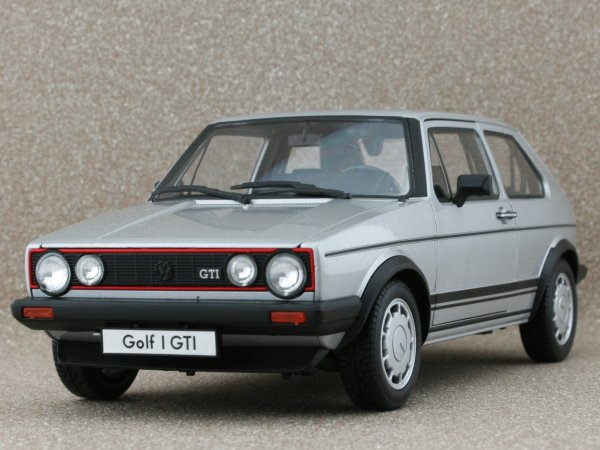 VW Volkswagen Golf GTI - silver - WELLY 1:18