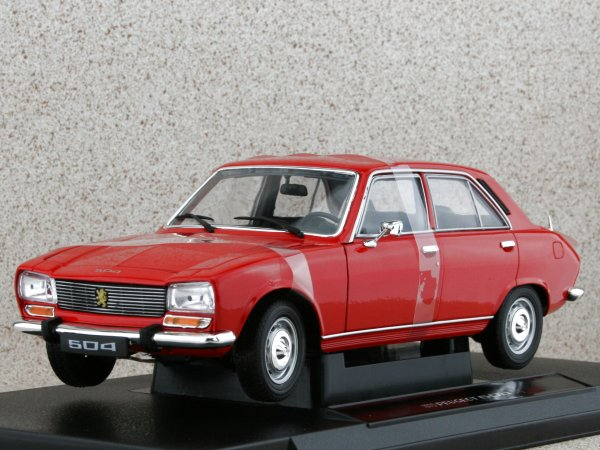PEUGEOT 504 - 1975 - red - WELLY 1:18