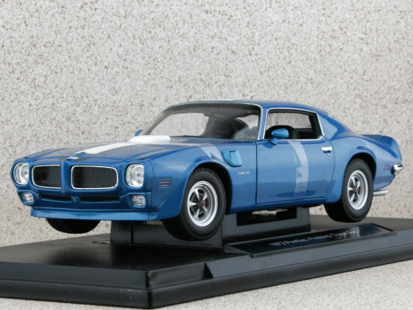 PONTIAC Firebird Trans AM - 1972 - bluemetallic - WELLY 1:18
