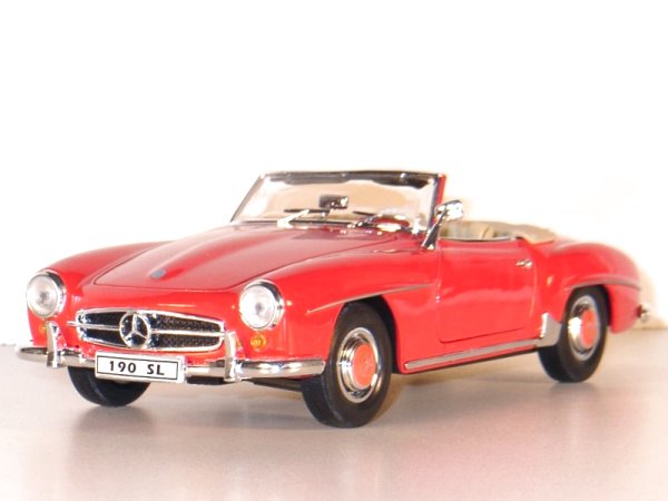 MB Mercedes Benz 190 SL - 1955 - red - WELLY 1:18