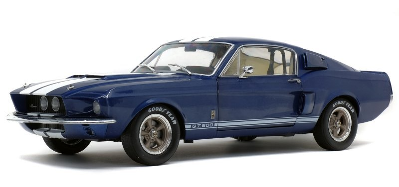 FORD Mustang SHELBY GT 500 - 1967 - bluemetallic - SOLIDO 1:18