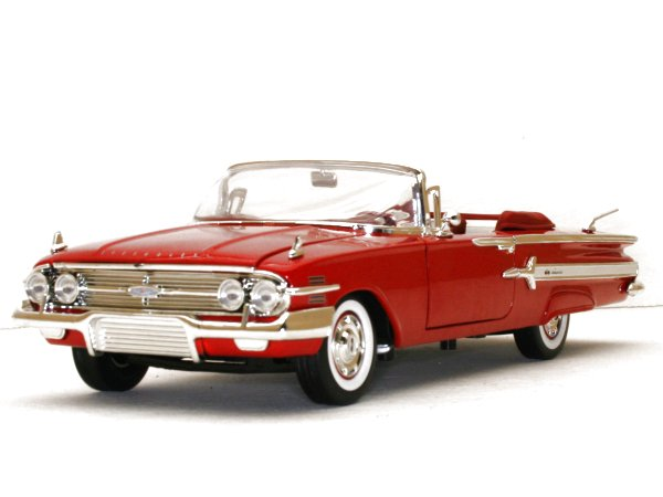 CHEVROLET Impala - 1960 - red - MotorMax 1:18